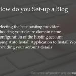 How do you set up a blog