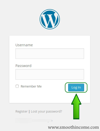 How do I Log into My WordPress Site - Login Screen