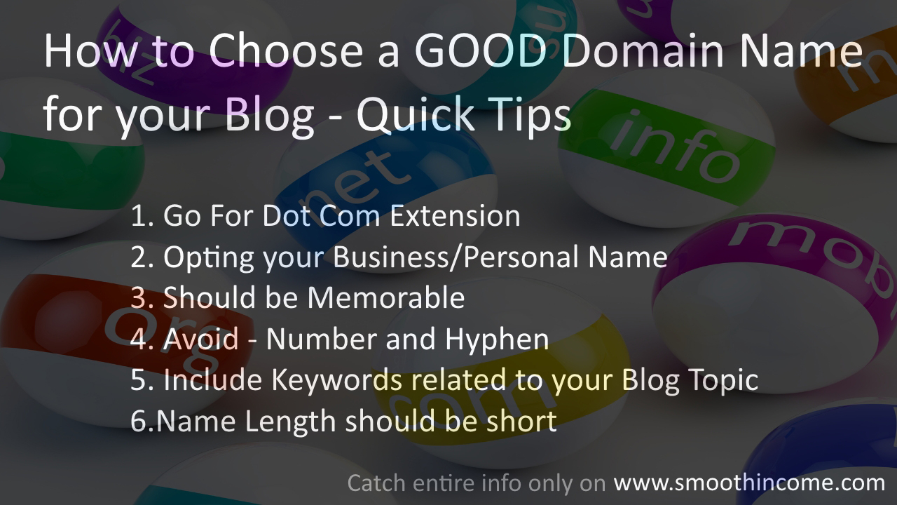 How to Choose a GOOD Domain Name for your Blog Site