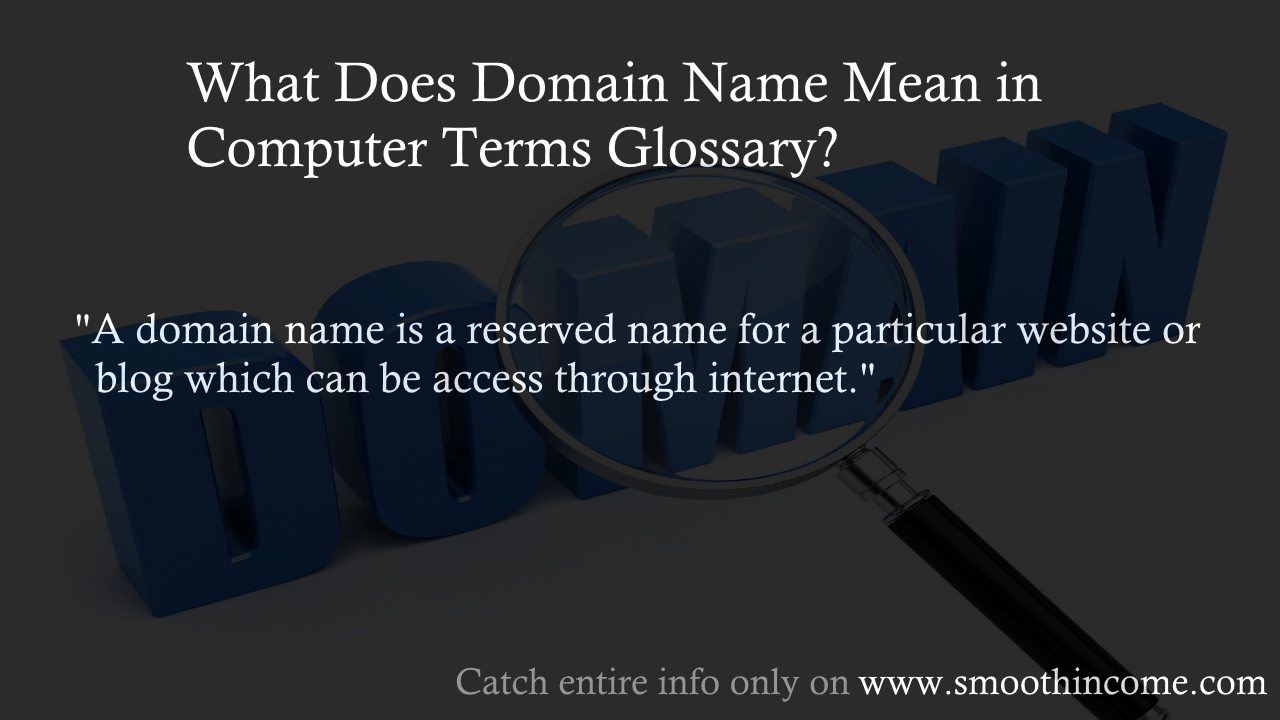 what does domain name mean in computer terms glossary