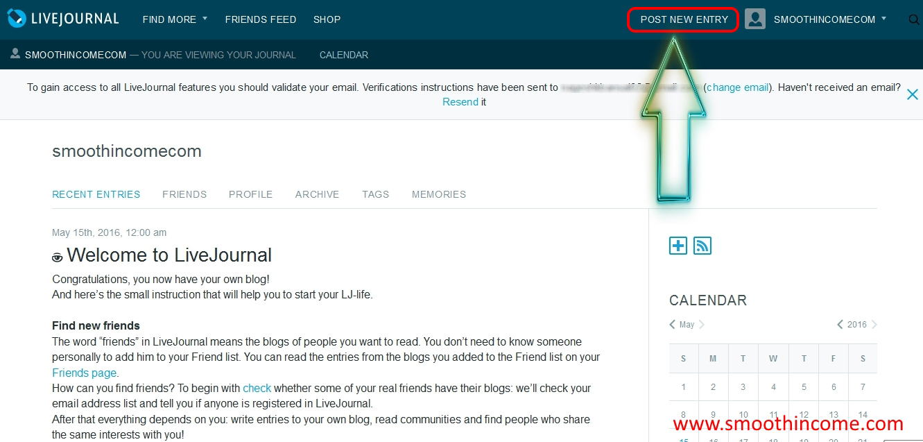 How to create livejournal blog sites start new free account for How to build a blog