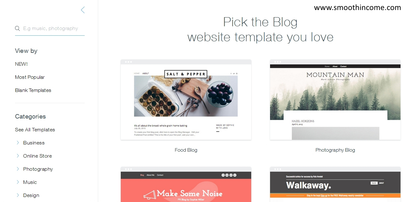 How to create a blog using wix start your free site for How to build a blog