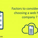 factors to consider before choosing a web hosting company