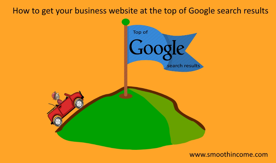 How to get your business website at the top of Google search results